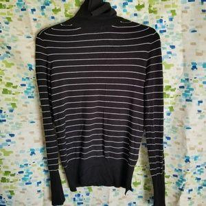 Zara Striped Turtleneck Sweater Size M